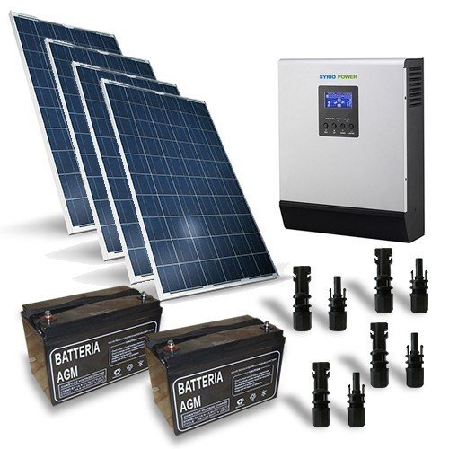 Photovoltaik Kits 1KW 24V Pro Solarmodul Wechselrichter 3000W Batterie 120Ah