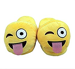 The Crazy Me Emoji Naughty House Indoor Slippers (Toungue Middle) for Women