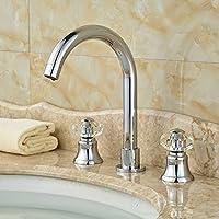 Moderno TougMoo Cristal maniglie Vasca Da Bagno Lavabo rubinetti miscelatori