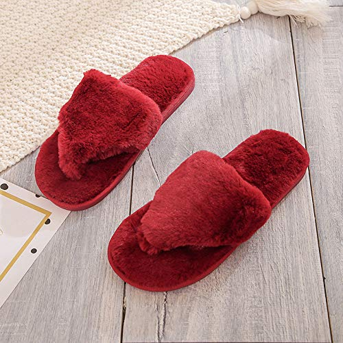 CZHJG Flip-Flop Zapatillas De Algodón Interior Mujer
