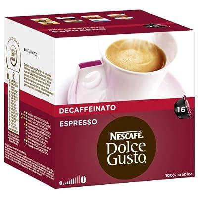 Nescafé Dolce Gusto Espresso Decaffeinato, Pack of 3, 3 x 16 Capsules