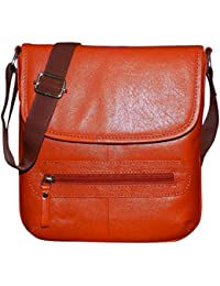 Style98 100% Pure Leather Handmade Stitched Unisex Sling Bag For Men,Women,Boys & Girls