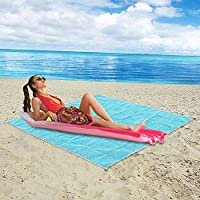 Sand Free Beach Mat,Bigzzia Beach Blanket Sand Proof Rug Magic Beach Sandless Mesh Mat Sand Escape Compact Camping Picnic Mat Fast Dry Easy to Clean Rug for Beaches, Family Travel Outdoor Activities