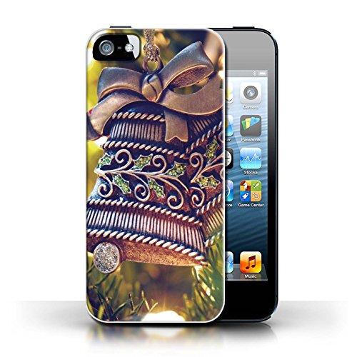 Stuff4 Hülle / Case für Apple iPhone 5/5S / Baum Dekorationen Muster / Weihnachten Foto Kollektion Messing Glocke