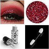 Stargazer - Gel fijador de sombra de ojos con purpurina + sombra de ojos de purpurina + lápiz aplicador de maquillaje para ojos, rostro y cuerpo