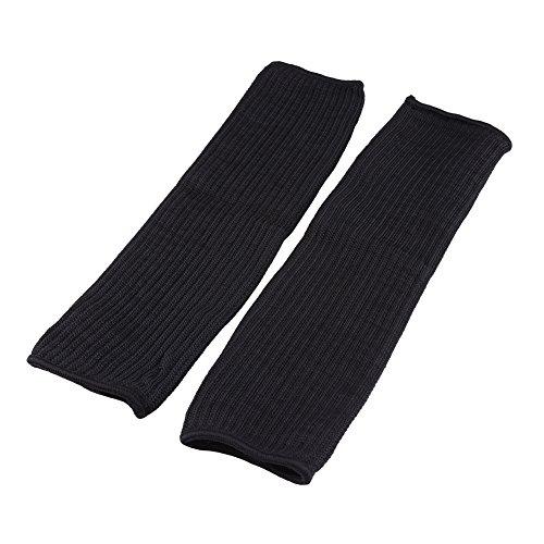 1 Paar Black Wire Arm Schnittfeste Ärmel, Sicherheitsschutz Anti Cut Sleeve für Schnittschutz, Gartenarbeit