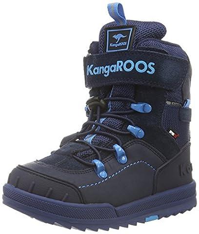 KangaROOS Unisex-Kinder Adrian Schneestiefel, Blau (Dk Navy/Blue 442), 37 EU