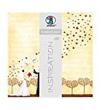 Ursus 70300087 - Premium Glitter Scrapbook paper Hochzeit 2, ca. 30,5 x 30,5 cm, 5 Blatt, Motiv 87