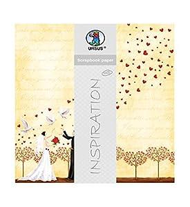 Ursus-Premium Glitter Scrapbook Paper Boda 2, Aprox. 30,5x 30,5cm, 5Hojas