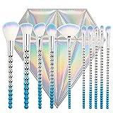 WZNB Makeup Brushes Set Di Pennelli Per Cosmetici 10 Set Di Pennelli Per Micropiastre Elettrolitici Set Di Pennelli Per Cosmetici, Graduale Blu