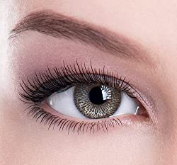 Chocolate Brown 1 Tone Coloured Contact Lenses - Without Power