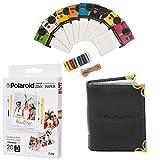 Polaroid 3.5 x 4.25'' Premium ZINK Fotopapier (20 Blatt) + Bunte Vintage-Fotorahmen + Fotoalbum (kompatibel mit Polaroid POP)