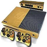 Stillshine Xbox One Autocollant Console Decal Vinyl Skin Sticker + 2 Autocollant Manette et 1 autocollant Kinect Set (Glossy Gold)