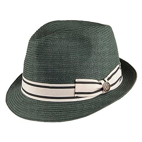 Goorin Bros. Mr. Flanagan Toyo Straw Trilby Hat - Forest MEDIUM
