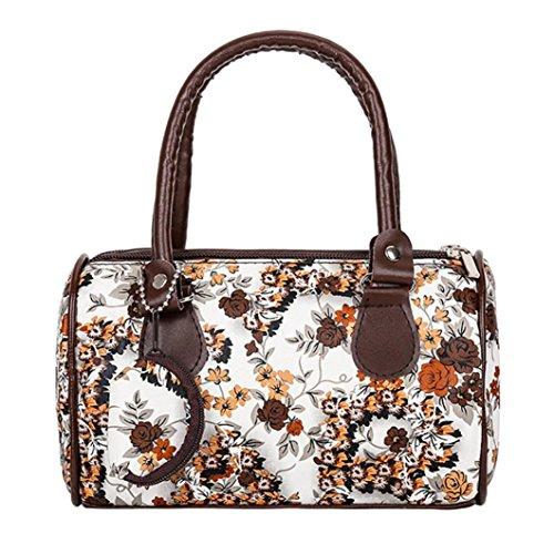 Beikoard Vendita Calda Borsa a Tracolla Tote Ladies Handbag Ricamata a Spalla da Donna (caffè)