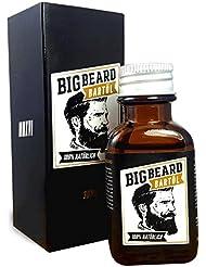 Bartöl von Big Beard - 100% vegane Bartpflege für den Vollbart - Die stilechte Herren Geschenkidee für den modernen Mann - 30ml - Sandelholz Duft