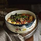WAN Chinesische große Ramen Suppe Dip Schüssel Küche Küchenmaschine Rührschüssel Weiß Keramik...
