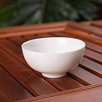 Aliciashouse Pure White Ceramic tazza di tè cinese Kung Fu Tazza da tè cinese della porcellana del tè Ware