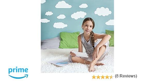 Grandes D/écorations d/écoratives pour chambre denfants Chambre /à coucher Pack de 26 Supertogether stickers muraux enfants nuages blancs