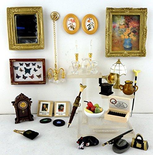 casa-delle-bambole-soggiorno-misto-set-di-accessori-specchietti-orologio-immagini-ecc