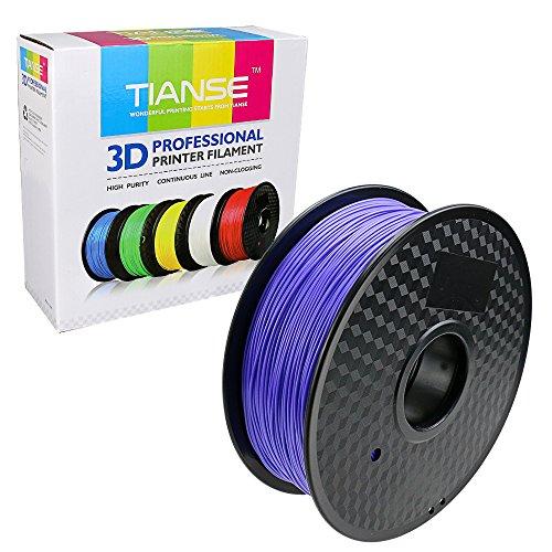 TIANSE Imprimante 3D Filament PLA 1.75mm 1KG, Violet