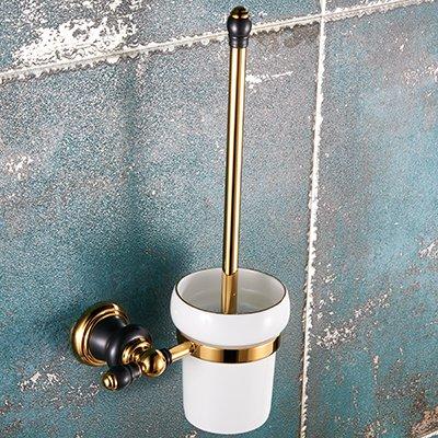 LHbox Tap El Cobre Oro Viejo Oro Negro baño Toallas de baño WC Retro toallero de Soporte de Montaje en Pared, Lleno de Cobre Oro Negro - Cepillo Sanitario