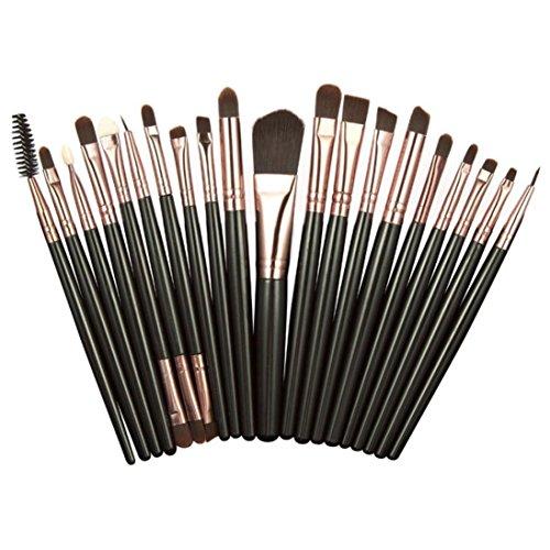 kingko® 20PCS / set pinceaux de maquillage cosmétique Set Pinceau fard à paupières Blush cosmétiques Outils (café)