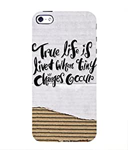 For Apple iPhone 4S -Livingfill- True life is lived Printed Designer Slim Light Weight Cover Case For Apple iPhone 4S (A Beautiful One of the Best Design with a Classic Theme & A Stylish, Trendy and Premium Appeal/Quality) (Red & Green & Black & Yellow & Other)