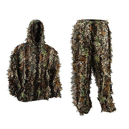 icase4u Tarnanzug 3D-Design-Jagdkleidung Camouflage-Anzug f&uumlr die Jagd, Camouflage-Jagdkleidung (2 Stück)