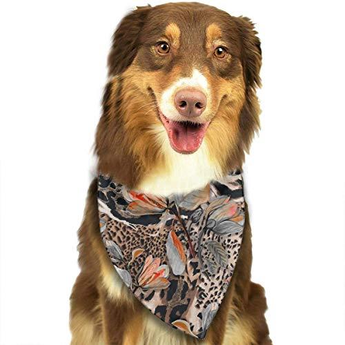 Hipiyoled Wildes afrikanisches Tierhaut-Muster-stilvolle Nette lustige Party-Mädchen-Jungen-Hundebandana modern