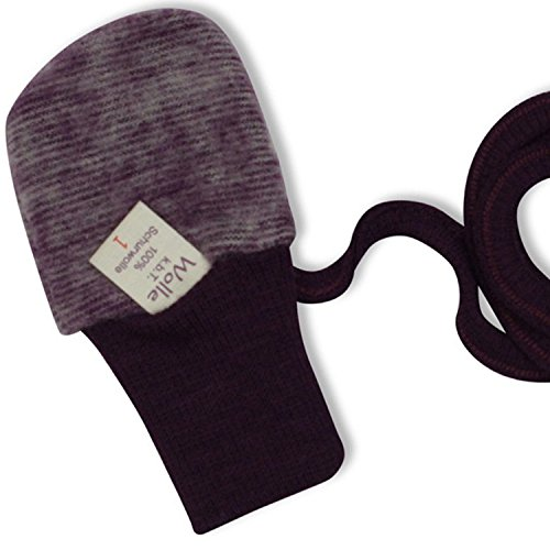 cosilana bébé gants organic-merino-fleece - Moufles avec pouce - 0-2 ans Bleu Lilac-Melange