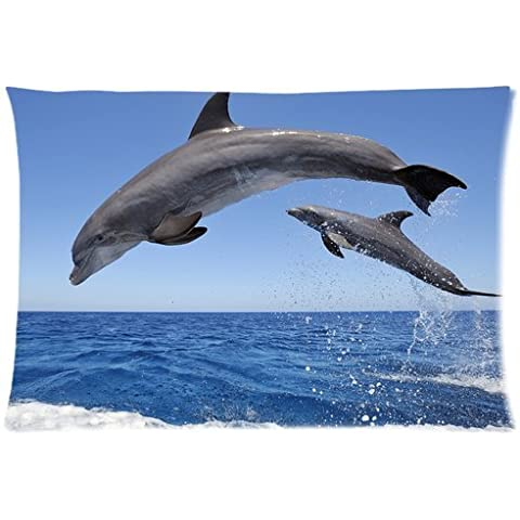 Casebynow Custom Dolphin Personalized Queen Size(20x30) 300 Thread Count Pillow