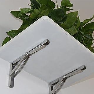 Hofen wandhängende schwere Edelstahl Stahl zusammenklappbar Regal Bench Tisch Halterung 660lb/300kg Laden 2Stück langen Arm