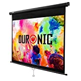 "Duronic Projector Screen MPS80/43 Manual Pull Down HD Projection Screen For | School | Theatre | Cinema | Home Projector Screen - 80"" (Screen: 163cm (w) X 122cm (h)- Matte White Screen"