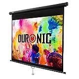 Duronic MPS80 /43 Ecran de projection à déroulement manuel 80 pouces 4:3/163 x 122 cm - Fixation mur ou plafond - 4K Full HD 3D
