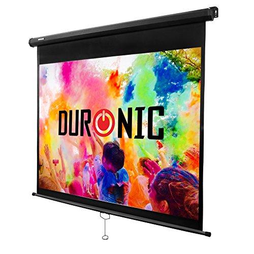 """Duronic MPS60/ 43 Rolloleinwand / 60"""" / 4:3/122 x 91 cm / 4 K Full HD 3D / Verstärkung 1.0 / Projektor Leinwand/Beamer Leinwand/Heimkino, Büro, Präsentationen, Schulen, Events"""