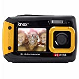 Knox Dual-LCD-Display-20MP Wasserdicht und stoßfest Digitalkamera (Gelb)