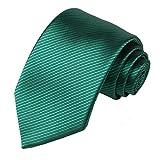 Kissties - Corbata para hombre de rayas, color fucsia verde Ejercito Verde Talla única