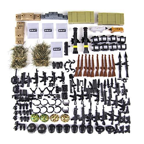 LOSGO Juguete Militar Kit Casco Arma Figuras Soldados
