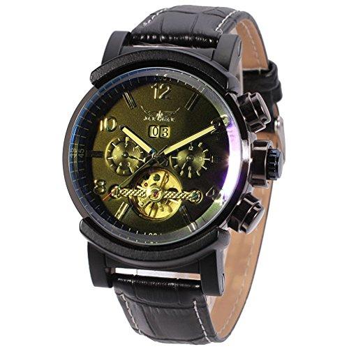 Forsining Men's Original Automatic Tourbillon Watch with Black Dial Analogue Display JAG9405M3B1 (Crown Jewels Modeschmuck)