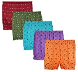 Elk Womens 100% Cotton Ladies Printed Bloomer Panty Brief Boy Shorts Innerwear 5 Piece Combo