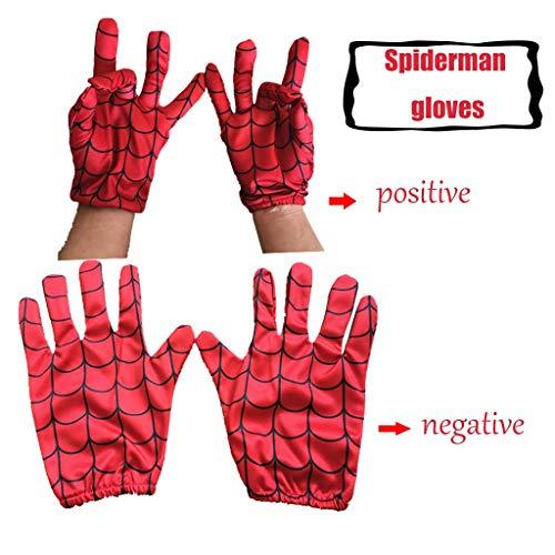 YUNMO Cosplay Spiderman Handschuhe Kriegshandschuhe Leichte Handschuhe Halloween Requisiten