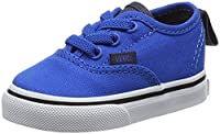 Vans Baby Boys TD Authentic Elastic Lace Walking Shoes, Blue (Canvas Imperial Blue/Parisian Night), 6 Child UK 22 1/2 EU