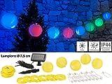 Lunartec Solar-LED-Gartendeko: Solar-LED-Lichterkette m. 20 Mini-Lampions, 3,8 m, IP44 (LED-Solar-Party-Lichterkette)