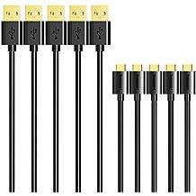Cable Micro usb, Tronsmart Cable de Carga y Sincronización-Negro-0.3mx1+1mx3+1.8mx1