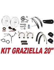 'Kit Fahrrad Graziella 20Rollen + Reifen + Krone + Lenker + Bremse ECC
