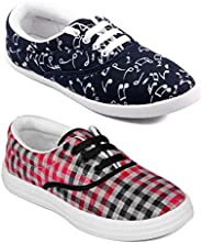 ASIAN Multicolor Walking Shoes,Running Shoes,Casual Shoes,Canvas Shoes,Sneakers,Loafers Combo Pack of 2 for Wo