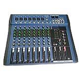 Ct8 8 Kanal Professioneller Stereo Mixer Live Usb Studio Audio Sound Konsole Netzwerk Anker Gerät Vocal Effekt Prozessor - Schwarz