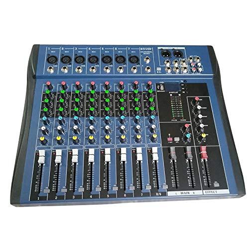 CT8 Mezclador estéreo profesional 8 canales Live