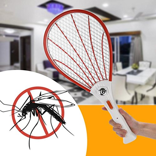 Diadia Mosquito Killer Rechargeable LED Electric Fly Mosquito Swatter Handheld Racket Insect Fly Bug Wasp Swatter Kill Zapper Killer Mosquito Repellent for Home, Kitchen, Room, Restaurant